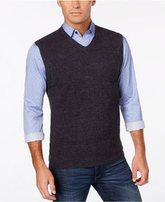 Weatherproof Men's Big and Tall Sweater Vest, Only at Macy's