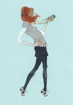 What I Wore Today Series by deanna staffo, via Behance