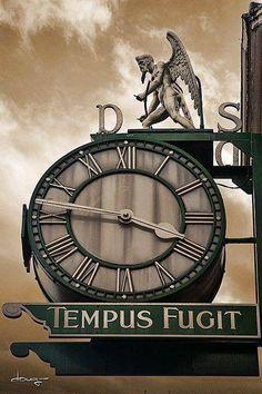 Clock Hourglass Time:  #Time Flies (Tempus Fugit).