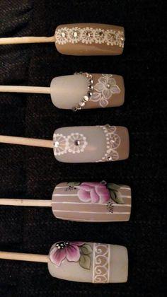 Fall Nail Art Designs, Flower Nail Designs, Diy Nail Designs, Long Nail Art, Easy Nail Art, Rose Nails, Flower Nails, Nail Art Hacks, Gel Nail Art