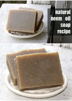 This natural neem oil cold process soap recipe is perfect for those with skin issues like eczema, psoriasis and even seborrheic dermatitis. It's one of my favorite homemade soap recipes since it works so well as multi-task bar that can be used for both ha Seborrhoische Dermatitis, Natural Beauty Recipes, Natural Recipe, Soap Making Supplies, Homemade Soap Recipes, Homemade Products, Nail Treatment, Skin Treatments, Handmade Soaps