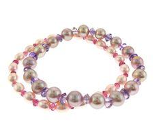 Pearl & Gemstone Stretch Bracelet Set