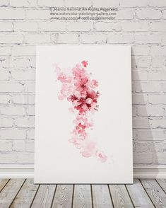 Mothers Day Gift Ideas Cherry Blossom Summer By ColorWatercolor