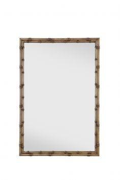 "LIGHT WALNUT FINISH - IRON BEVELED MIRROR  Height 41.00"" (104.14 cm)  Width 28.00"" (71.12 cm)  Depth 1.00"" (2.54 cm)"