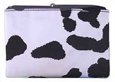 Nylon Cow Makeup Bag or Coin Purse Gifts Cow Appreciation Day, Cow Mug, Cow Spots, Cow Nails, Cow Face, Iron Board, Shower Cap, Folded Up