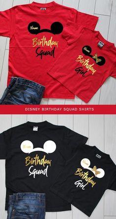 Disney shirts, disney family shirts, disney family vacation t shirts Disney World Birthday, Mickey Mouse Birthday Shirt, Birthday Squad Shirts, Family Birthday Shirts, Matching Disney Shirts, Disney Shirts For Family, Shirts For Girls, Disney Family, Family Family
