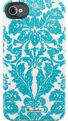 Florentine Tapestry by Florence Broadhurst for iPhone 4/4S Black Bezel Deflector