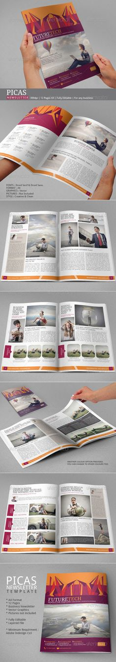 Picas Business Newsletter - Newsletters Print Templates