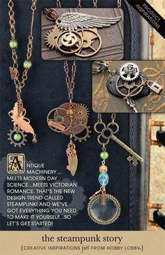 Steampunk jewelry - especially like the key