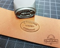Thanks to RanchLeather for sharing this photo of your new Maker Stamp!