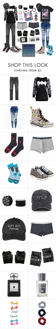 """""""I don't care what you think my boyfriend loves it💜💙💗"""" by rainythedarklord ❤ liked on Polyvore featuring Balenciaga, Rocket Dog, Topshop, MANGO MAN, Lanvin, Hot Topic, Funk Plus, Jo Malone, Acqua di Parma and Accessorize"""