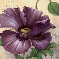 purple garden art | Purple Garden I | Decorative Painting