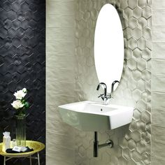 The SomerTile 4x5-inch Capri Bianco Porcelain Wall Tile is a textured, matte tile with unique floral patterns. This tile is frost resistant, impervious and easy to clean which makes it perfect for an indoor or outdoor look.
