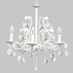 5 Light Elegance Chandelier - White - Jack and Jill Boutique