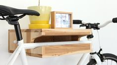 Yeah, we need this! A super classy bike shelf!