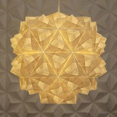 FOLDABILITY Leah pendant origami lampshade lighting design