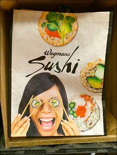 Wegman's Sushi Bag Branding