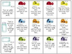 Sublime Speech: Listening Ladybugs: Following Directions Activity