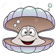 Ilustración vectorial de dibujos animados: Concha de mar. Shell.