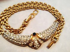 Vintage Nina Ricci Necklace Signed Fabulous by MyGreatVintageFinds, $125.00
