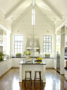 Vaulted Ceiling Kitchen on Pinterest | Vaulted Ceiling Lighting, House