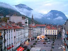 Place Grenette. Grenoble, France.  Walking around, eating ice cream, shopping, all just a block away from my house <3