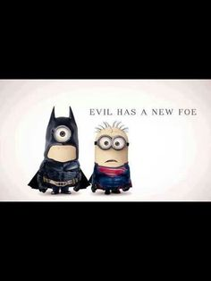 A fan made some Despicable Me 2 minion art and dressed them up as Batman and Superman based on the looks of the superheroes from their recent films. Batman Vs Superman, Batman Minion, My Minion, Batman Robin, Minion Avengers, Funny Batman, Minion Banana, Amor Minions, Cute Minions