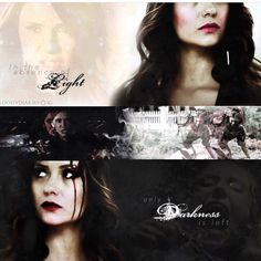 "#TVD The Vampire Diaries  Elena & Katherine(I think?)  ""In the absence of light, only darkness is left"""