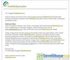 Notifikasi melalui e  Notifikasi melalui email berisi password akun MobileXpression anda | SurveiDibayar.com
