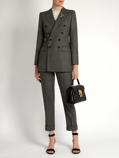 Prince of Wales-checked wool cropped trousers | Dolce & Gabbana | MATCHESFASHION.COM UK