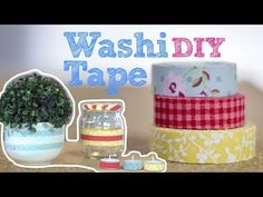 DIY :: Fita adesiva decorada | Washi Tape - YouTube