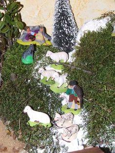 Le berger endormi qui n'a pas entendu l'appel de l'Ange Boufarel et un berger avec ses moutons