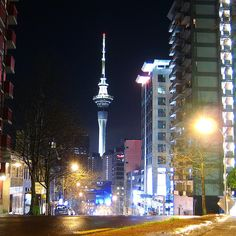 Sky Tower, Auckland- jumped off the sky tower