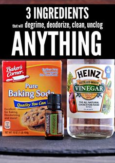 These 3 ingredients - baking soda, white vinegar & melaleuca essential oil are the household-cleaner power trinity able to clean every gross job imaginable. Here are some easy ways they degrime, deodorize, clean and unclog the tough jobs in your house.