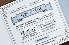 1x1.trans Tere + Césars 1920s Inspired Letterpress Wedding Invitations