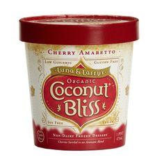 Luna and Larry's Organic Coconut Bliss Cherry Amaretto Non-Dairy Frozen Dessert #icecream #healthy #dessert