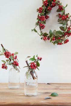 Navidad decoración guirnalda natural