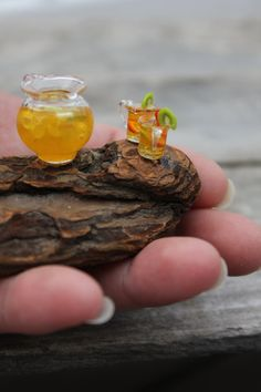 Fairy iced tea, served on driftwood