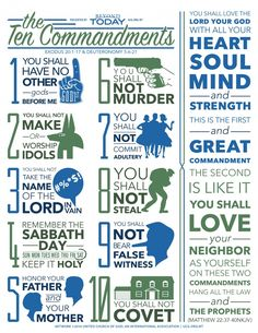 [Infographic]: The 10 Commandments Encouraging Bible Verses, Bible Encouragement, Prayer Scriptures, Bible Teachings, Bible Quotes, Bible Study Lessons, Bible Study For Kids, Bible Study Tools, Scripture Study