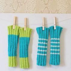 Beginner knitting pattern for these adorable infant legwarmers.