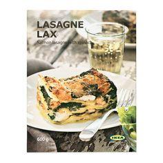 IKEA - LASAGNE LAX, Lachslasagne mit Spinat, gefr., Lachs gibt diesem klassischen Lasagnegericht mit Spinat einen schwedischen Einschlag. Einfach wärmen und servieren.