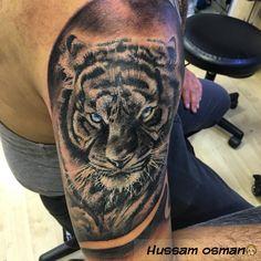 Tiger tattoo black and grey tattooist art artist artwork