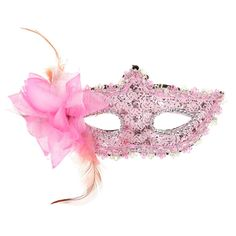 Half Feather Face Mask with Flower-3.14 and Free Shipping  GearBest.com