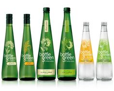 """Cordial drinks brand """"Bottlegreen"""" has had a refresh of its #packaging design, with the aim of giving it more """"movement and artistry"""". #Bottle #Green #Glass #Botella #Verde #Cristal"""