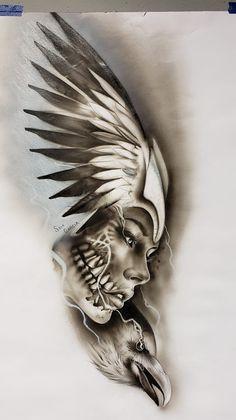 Medusa Tattoo Design, Buddha Tattoo Design, Dove Tattoo Design, Tattoo Designs, Lion Head Tattoos, Forarm Tattoos, Body Art Tattoos, Skull Girl Tattoo, Girl Face Tattoo