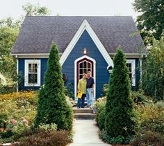 Sears Kit Home. Adorable little house, love the blue!