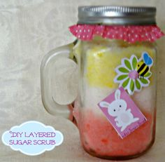 Layered DIY Sugar Body Scrub #amoils - Simply Southern Mom