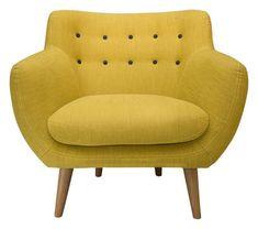 Fauteuil Coogee Imaginé par Sentou, le fauteuil Coogee allie confort et élégance, dans un esprit 50's très tendance
