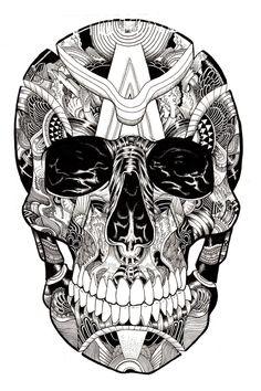 Skulltastic by iain macarthur, via Behance