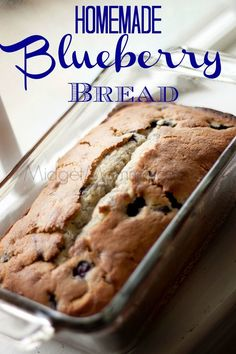 Homemade Blueberry Bread is the perfect breakfast or snack. Made with fresh blue… Homemade Blueberry Bread is the perfect breakfast or snack. Made with fresh blueberries this Blueberry Bread is so good that everyone will eat it up fast! Blueberry Recipes Easy, Blueberry Quick Bread, Blueberry Desserts, Easy Bread Recipes, Baking Recipes, Bread Recipes For Breakfast, Recipes With Fresh Blueberries, Loaf Recipes, Blueberry Cake